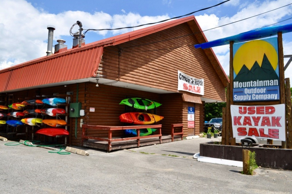 Picture of the front of the Mountainman Outdoor Supply Company's building located right here in Old Forge, NY.