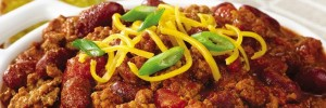 Chili with graded cheese on top