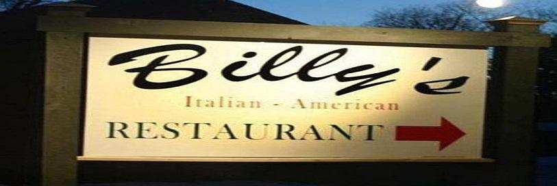 Billy's Italian-american restaurant sign