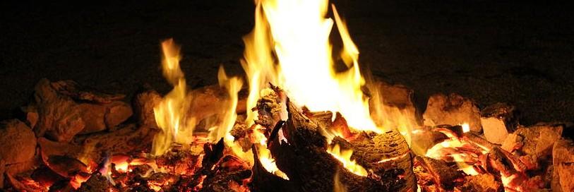 A close up picture of a bonfire